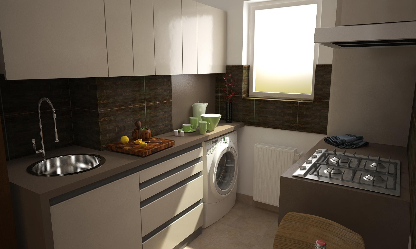 Amenajare bucatarie apartament in militari for Proiect casa 2 camere living baie si bucatarie